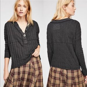 Free People We The Free In The Mix Ribbed Knit Top